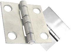 Monroe manufactures custom stainless steel hinges